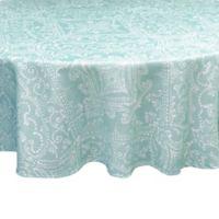 Lenox® Lancaster Perle 70-Inch Round Tablecloth in Aqua