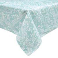 Lenox® Lancaster Perle 60-Inch x 84-Inch Oblong Tablecloth in Aqua