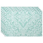 Lenox® Lancaster Perle Placemats in Aqua (Set of 4)