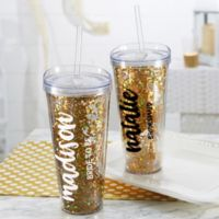 Glitter & Gold Bridal Party 22 oz. Stemless Cup