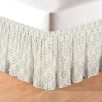 Lilly Twin Bed Skirt in Green