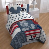disney mickey mouse americana 5 piece twin comforter set - Mickey Mouse Bedding