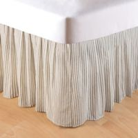 Nelly Striped Queen Bed Skirt in Black