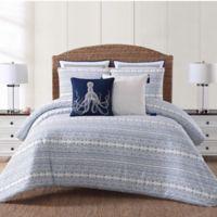 Oceanfront Resort Reef King Comforter Set in White/Blue