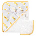 Hudson Baby® Duck 2-Piece Hooded Towel and Washcloth Set in Yellow