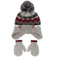35488c35cf2 Rising Star™ Infant Fair Isle Flip-Up Hat   Mitten Set in Grey
