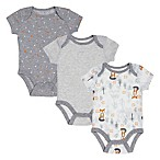Sterling Baby Newborn 3-Pack Fox Coordinate Bodysuits