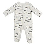 Sterling Baby Newborn Love Footie in Ivory