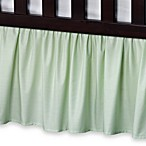 T. L. Care Cotton Percale Crib Bed Skirt in Celery