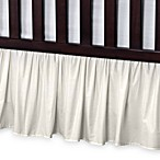 T. L. Care Cotton Percale Crib Bed Skirt in Ecru