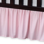 T. L. Care Cotton Percale Crib Bed Skirt in Pink