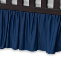 T. L. Care Cotton Percale Crib Bed Skirt in Royal