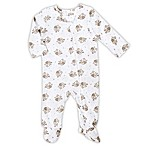 aden® by aden + anais® Size 3-6M Long-Sleeve Elephant Footie in White