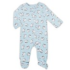 aden® by aden + anais® Size 3-6M Long-Sleeve Bears Footie in Blue