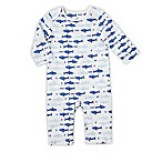 aden® by aden + anais® Size 0-3M Long-Sleeve Sharks Coverall in White