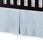 T. L. Care Heavenly Soft Minky Dot Crib Skirt in Blue