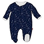 Magnetic Me by Magnificent Baby® Size 3M Planet Magnetic Footie in Blue