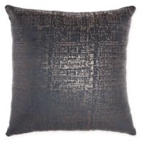 Inspire Me! Home By Nourison Distressed Metallic Square Throw Pillow in Midnight