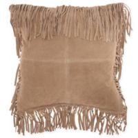 Mina Victory By Nourison Fringe Borders Square Throw Pillow in Beige