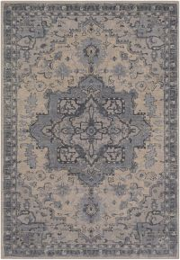 Surya Fewell 5-Foot x 7-Foot 6-Inch Area Rug in Light Grey