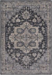 Surya Fewell 2-Foot x 3-Foot Accent Rug in Charcoal