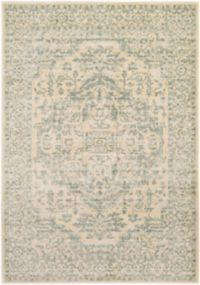 Surya Carlisle Classic Large Medallion 5-Foot 3-Inch x 7-Foot 3-Inch Area Rug in Beige