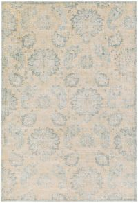 Surya Carlisle Classic Floral 5-Foot 3-Inch x 7-Foot 3-Inch Area Rug in Cream