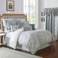 Waterford® Farrah California King Comforter Set in Aqua