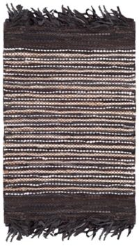 Safavieh Vintage Leather Quade 4' x 6' Area Rug in Dark Brown