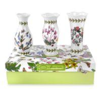 Portmeirion® Botanic Garden 5-Inch Mini Vases (Set of 3)
