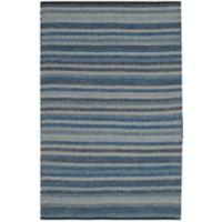 Safavieh Striped Kilim 5' x 8' Kay Rug in Blue