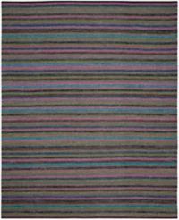 Safavieh Striped Kilim 8' x 10' Kay Rug in Grey