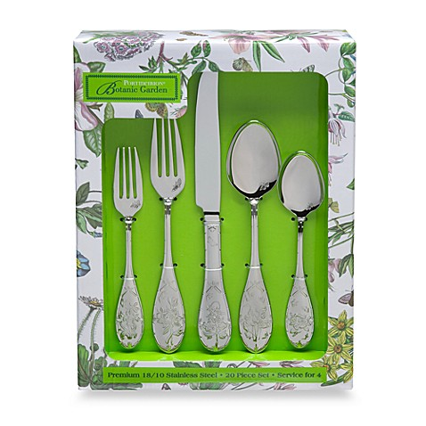 Portmeirion Botanic Garden 20 Piece Flatware Set Bed Bath Beyond