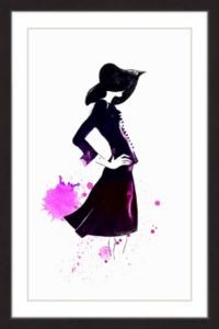 Marmont Hill Collective Rongrong Devoe 24-Inch x 16-Inch Shadow Girl Framed Wall Art