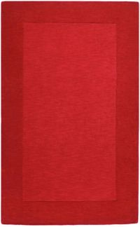 Surya Mystique Solid 5' x 8' Handcrafted Area Rug in Dark Red