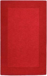 Surya Mystique Solid 9' x 13' Handcrafted Area Rug in Dark Red
