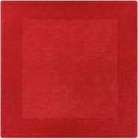 Surya Mystique Solid 9'9 Square Handcrafted Area Rug in Dark Red