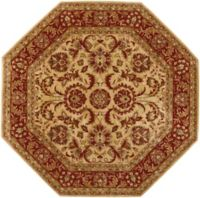 Surya Ancient Treasures 8' Octagon Area Rug in Olive/Red
