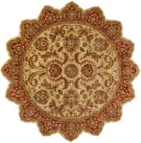 Surya Ancient Treasures 8' Star Area Rug in Olive/Red