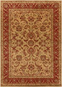 Surya Ancient Treasures 8' x 11' Area Rug in Olive/Red