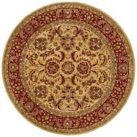 Surya Ancient Treasures 8' Round Rug in Olive/Red