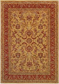 Surya Ancient Treasures 9' x 13' Area Rug in Olive/Red