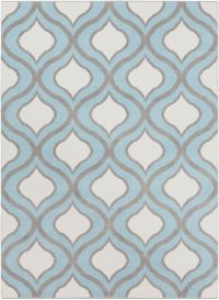 Surya Horizon 5'3 x 7'3 Woven Area Rug in Blue/Grey