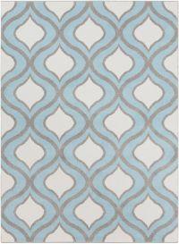Surya Horizon 9'3 x 12'6 Woven Area Rug in Blue/Grey
