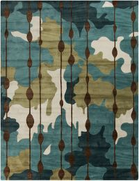 Surya Lava Modern Abstract 8' x 10'6 Area Rug in Blue/Green