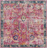 Surya Harput Vintage 6'7 Square Area Rug in Red/Blue