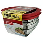 Rubbermaid® 6-Piece Glass Food Storage Container Set with Easy-Find Lids