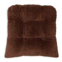 Arlee Home Fashions® Delano Memory Foam Chair Pad in Chocolate (Set of 2)
