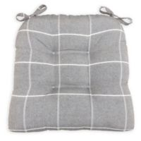 Arlee Home Fashions® Essentials Highland Chair Pad in Charcoal