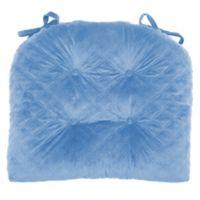 Therapedic® Velvet Quilted Chair Pad in Denim